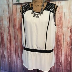 NWT Limited lace sleeveless blouse